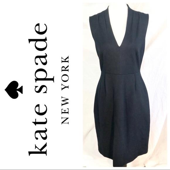 kate spade Dresses & Skirts - ♠️Kate Spade Black Stretch Knit VNeck Party Dress